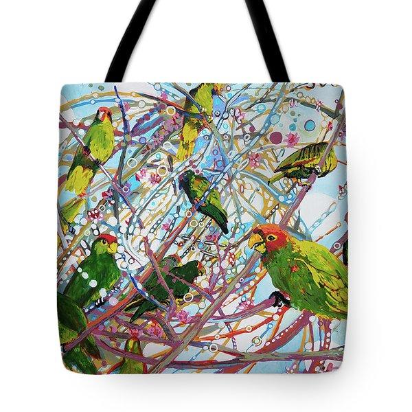 Parrot Bramble Tote Bag