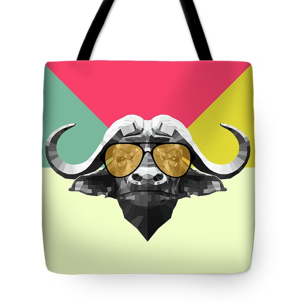 Party Buffalo In Glasses Tote Bag