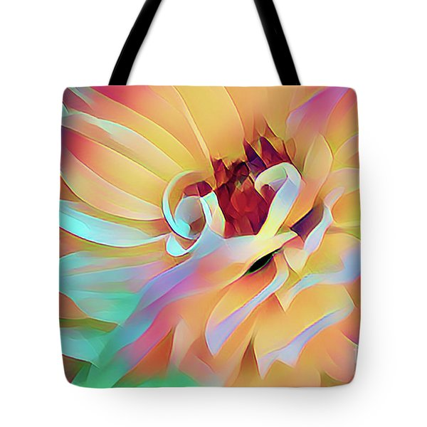Party Time Dahlia Abstract Tote Bag