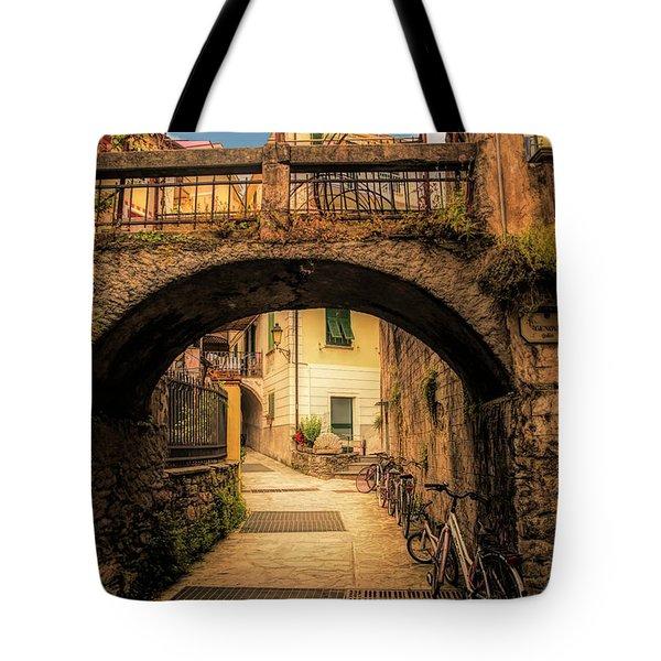 Passageway In Monterosso Tote Bag