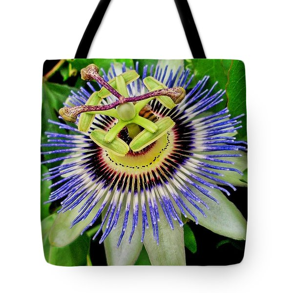 Passion Flower Bee Delight Tote Bag