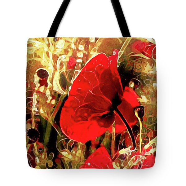 Passionate About Poppies Tote Bag