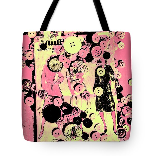 Past Patterns And Bygone Buttons Tote Bag