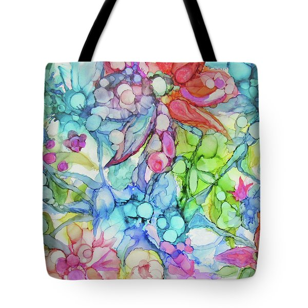 Pastel Flowers - Alcohol Ink Tote Bag