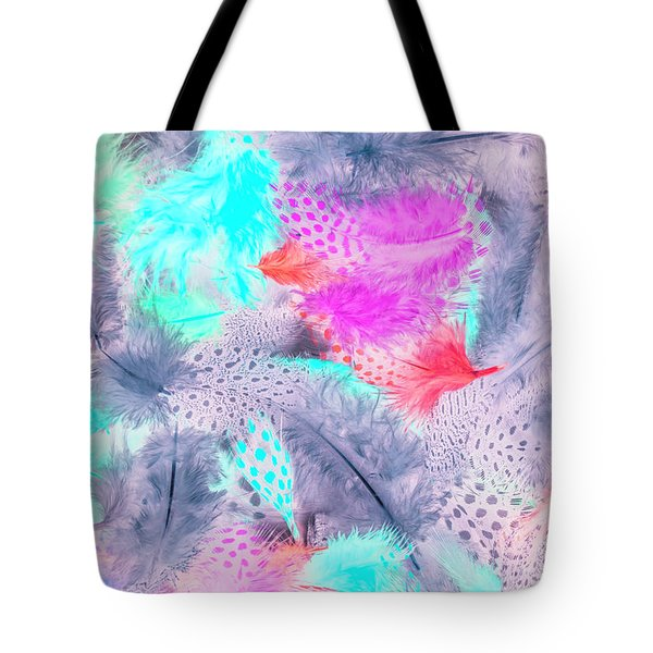 Pastel Plumes Tote Bag