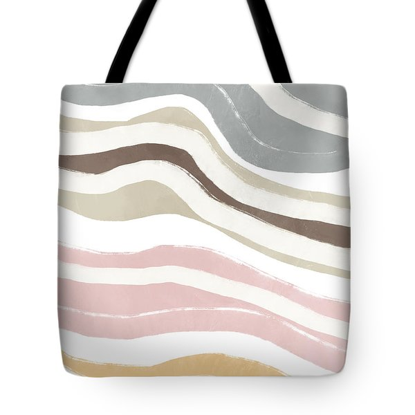 Tote Bag featuring the mixed media Pastel Waves 2- Art By Linda Woods by Linda Woods