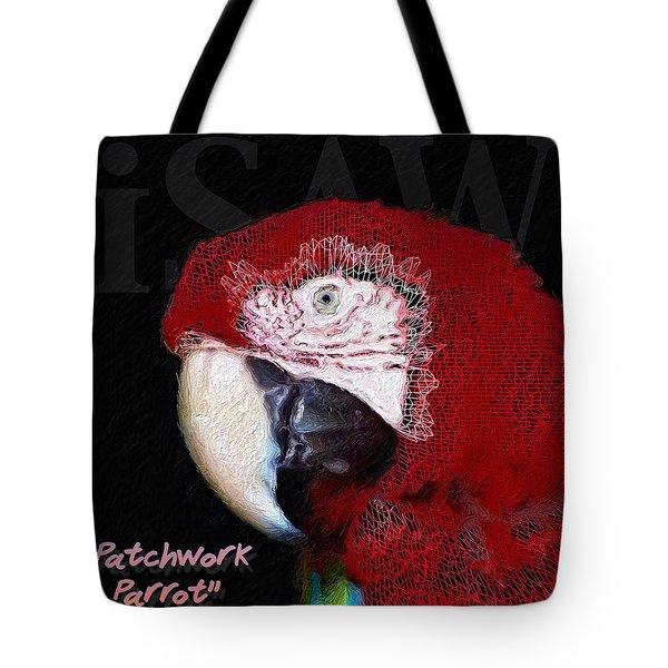 Patchwork Parrot Tote Bag