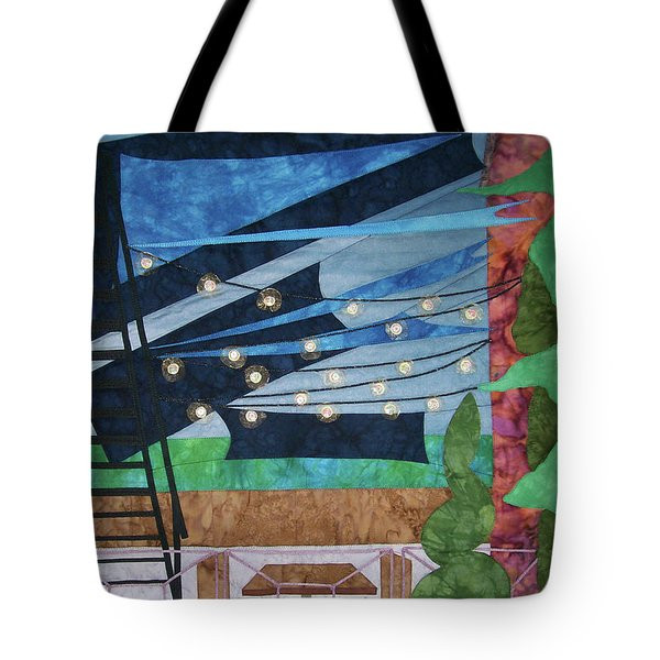 Patio At The Winds Tote Bag
