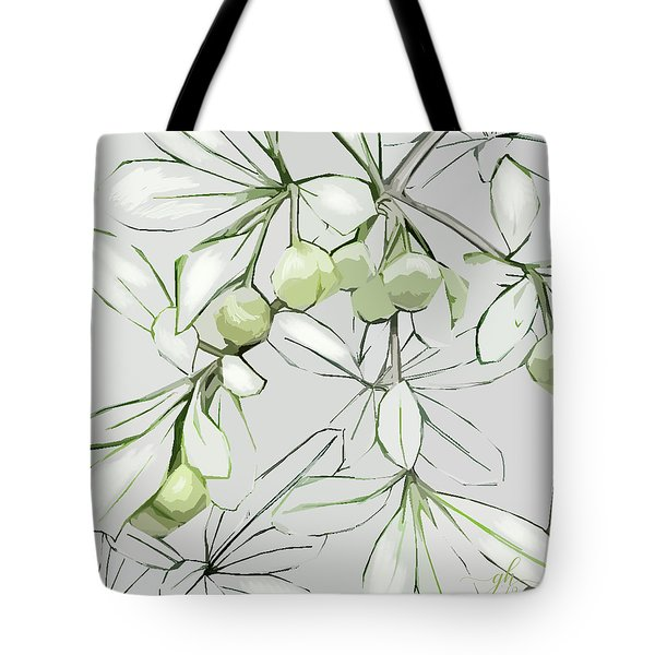 Tote Bag featuring the digital art Patio Print by Gina Harrison