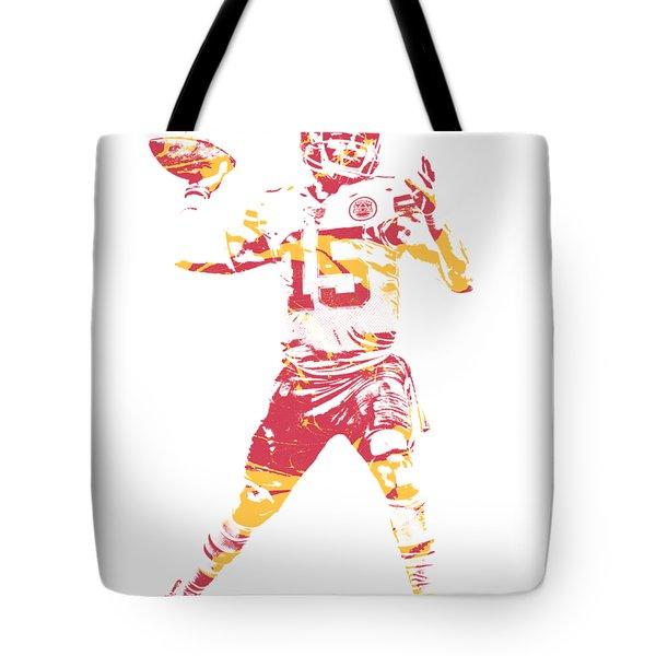 Patrick Mahomes Kansas City Chiefs Apparel T Shirt Pixel Art 1 Tote Bag