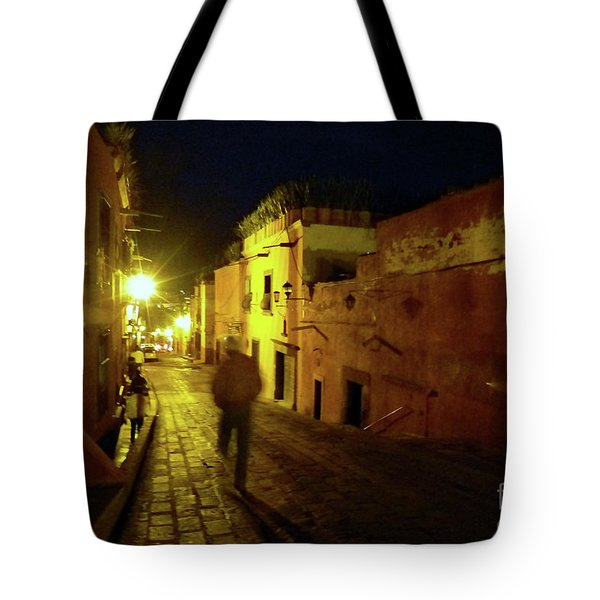 Tote Bag featuring the photograph Patzcuaro Street by Rosanne Licciardi