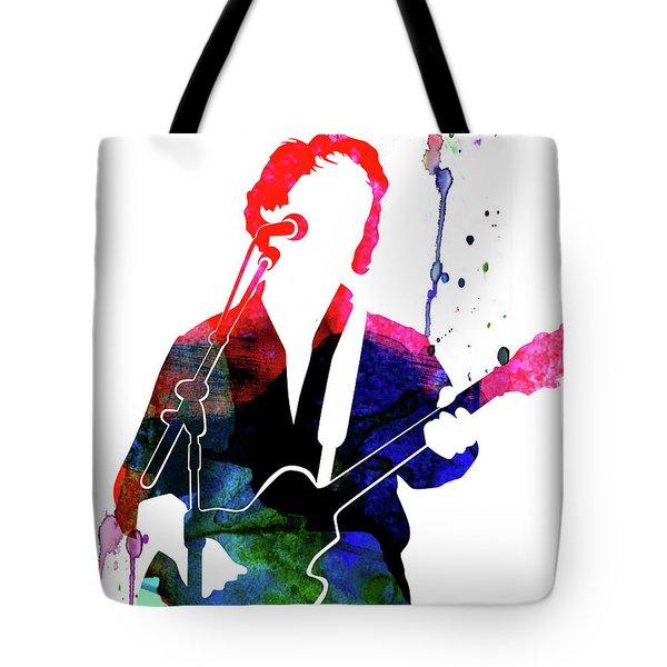 Paul Simon Watercolor Tote Bag