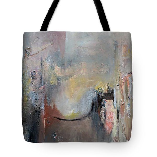 Tote Bag featuring the painting Paula's Room by Jillian Goldberg