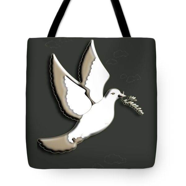 Peace Among The Clouds Tote Bag