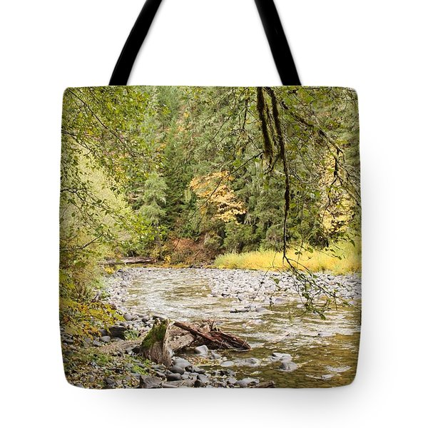 Peaceful Molalla River Tote Bag