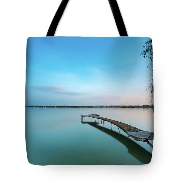 Peacefull Waters Tote Bag