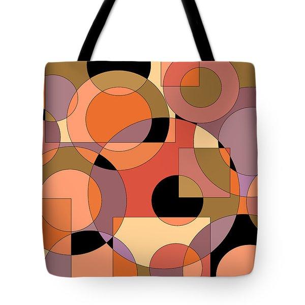 Peach Circle Abstract Tote Bag
