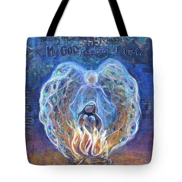 Peacock Angel Tote Bag