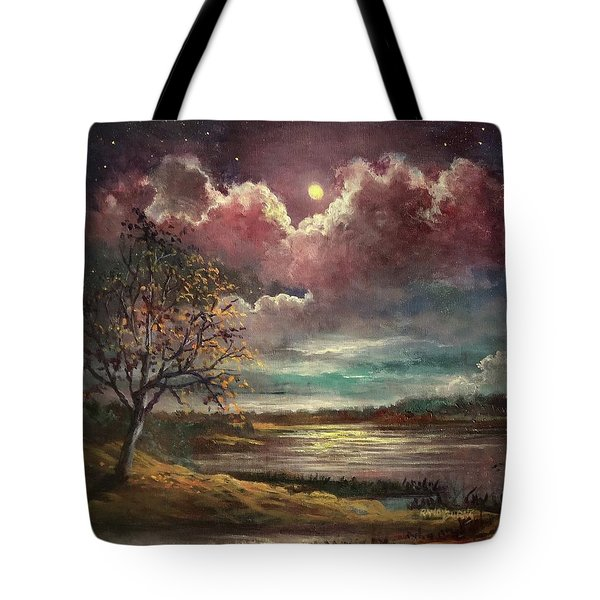 Pearl Of The Night Tote Bag