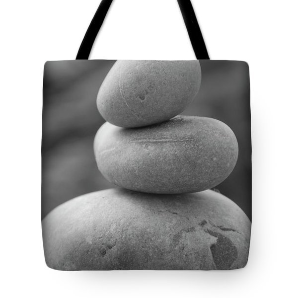 Pebbles In Black And White Tote Bag