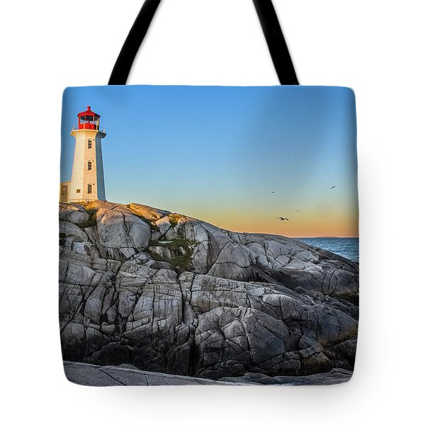 Peggys Cove Lighthouse Tote Bag