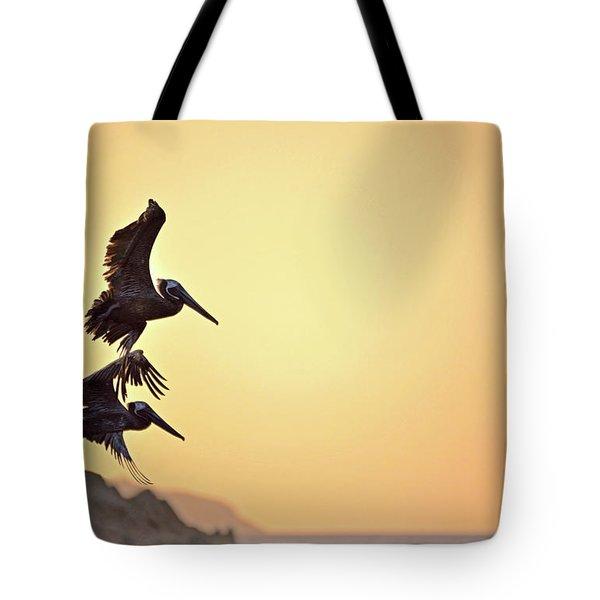 Pelican Down Tote Bag