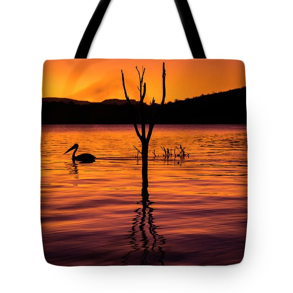 Tote Bag featuring the photograph Pelican by Rob D Imagery
