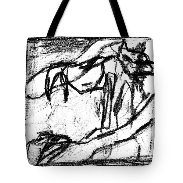 Pencil Squares Black Canine B Tote Bag