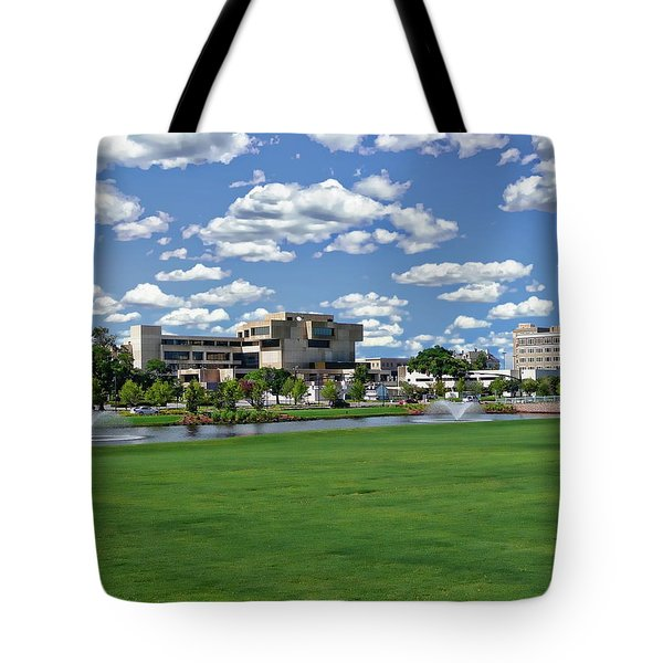 Tote Bag featuring the photograph Pensacola Financial District by Anthony Dezenzio