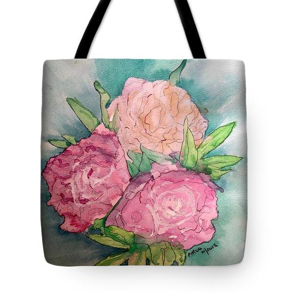 Peonie Roses Tote Bag