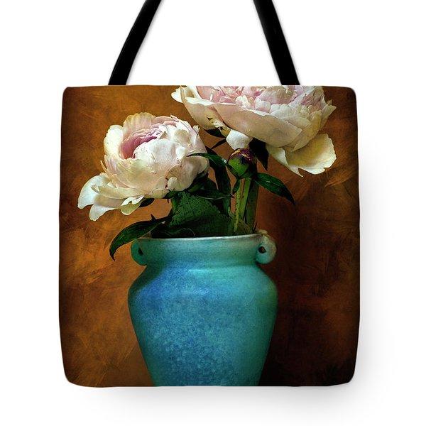 Peonies In Spring Tote Bag