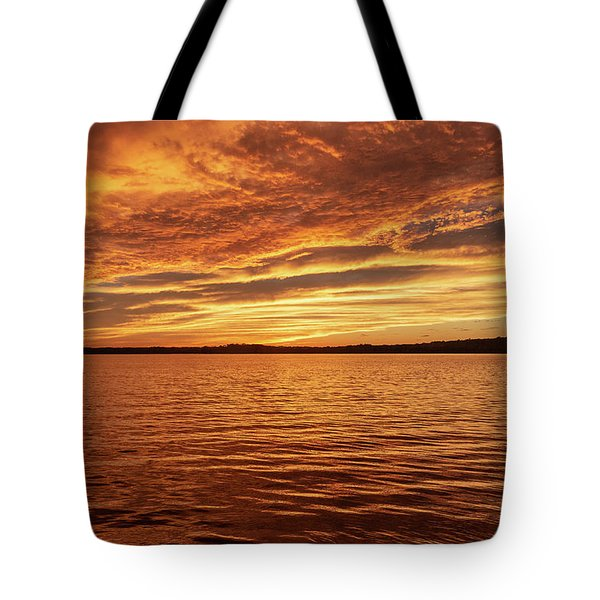 Percy Priest Lake Sunset Tote Bag