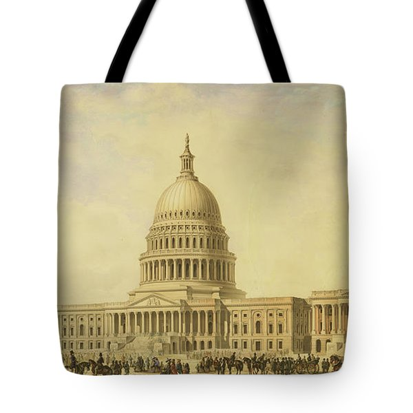 Perspective Rendering Of United States Capitol Tote Bag