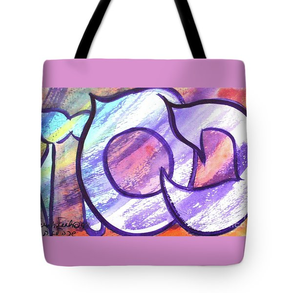 Tote Bag featuring the painting Pesach Ps1 by Hebrewletters Sl