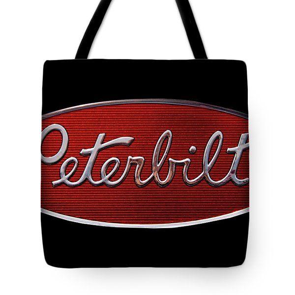 Peterbilt Emblem Black Tote Bag