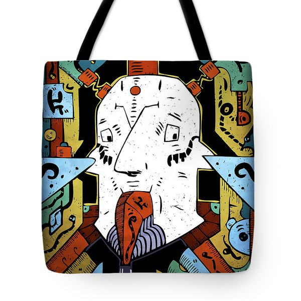 Tote Bag featuring the drawing Petroleum by Sotuland Art