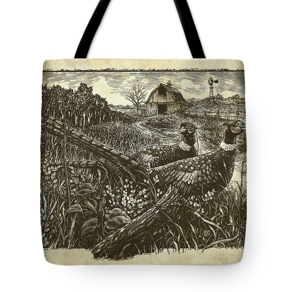 Pheasants Tote Bag