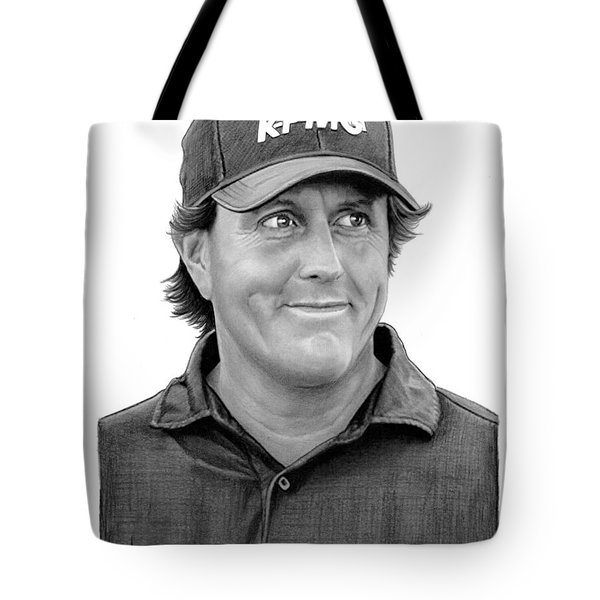 Phil Mickelson Drawing Tote Bag
