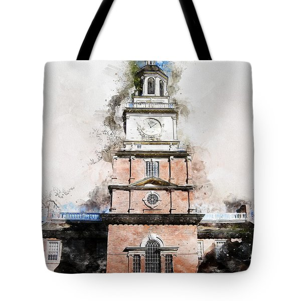 Philadelphia Independence Hall - 01 Tote Bag