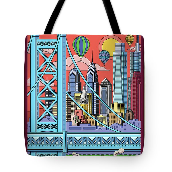 Philadelphia Poster - Pop Art - Travel Tote Bag