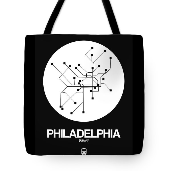 Philadelphia White Subway Map Tote Bag