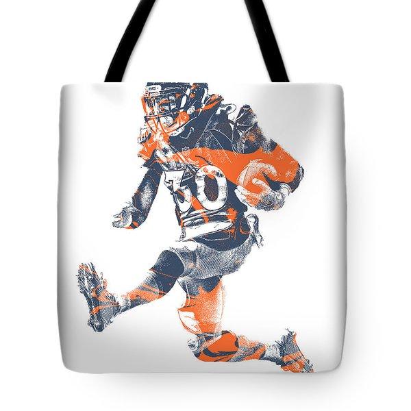 Phillip Lindsay Denver Broncos Pixel Art 2 Tote Bag