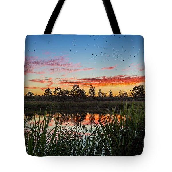 Phinizy Swamp Sunrise - Augusta Ga Tote Bag