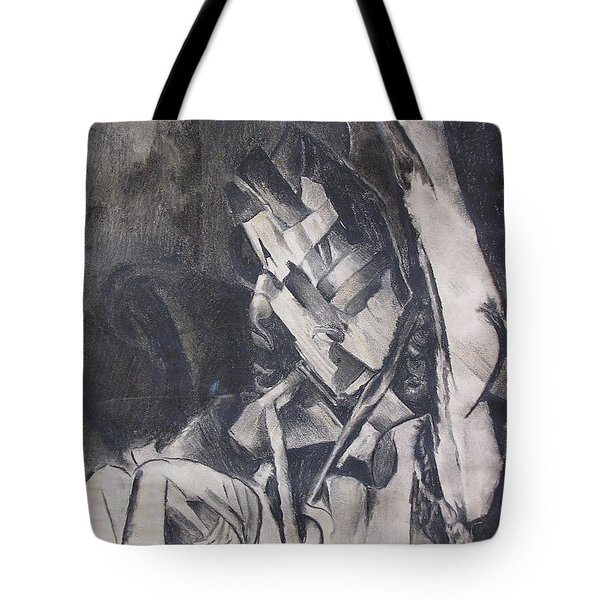 Tote Bag featuring the drawing Picasso Study by Rosanne Licciardi
