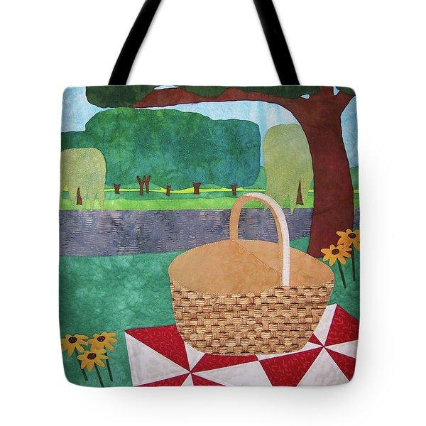 Picnic At Ellis Pond Tote Bag