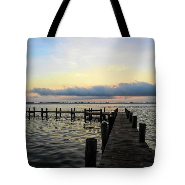 Pier Into Morning Tote Bag