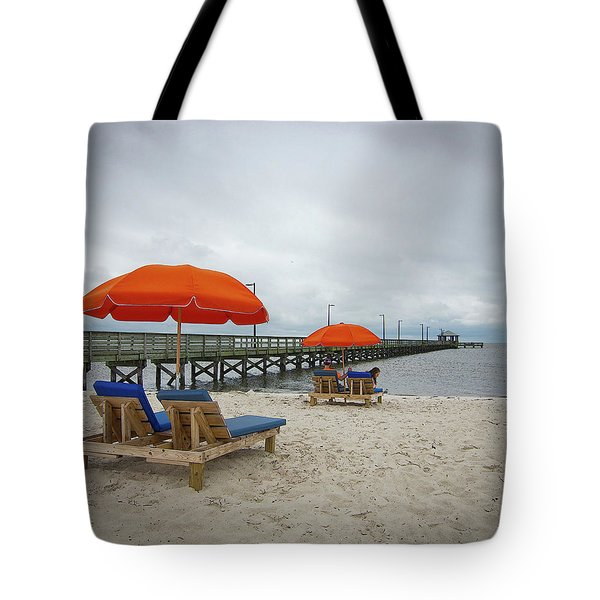 Tote Bag featuring the photograph Pier by Jim Mathis