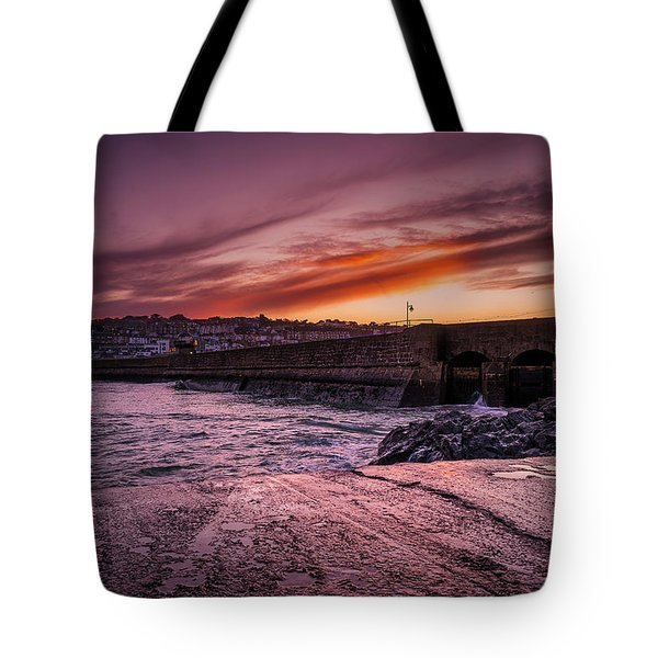 Pier To Pier Sunset Tote Bag
