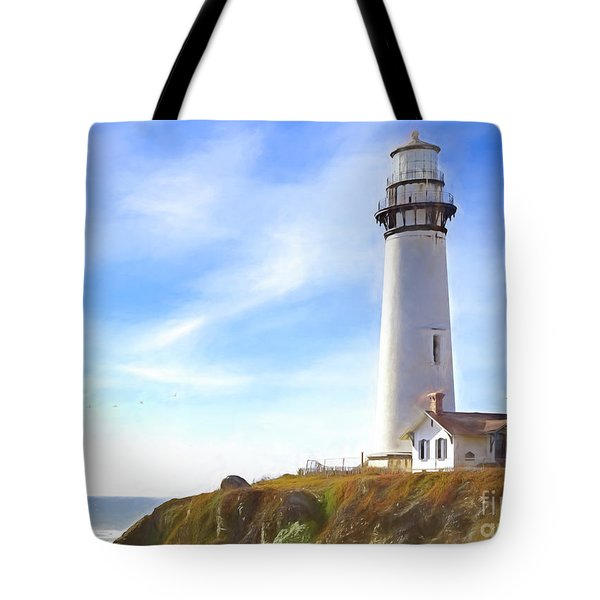 Pigeon Point Lighthouse Ca Tote Bag