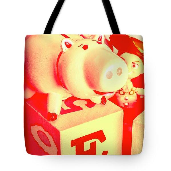 Piggybank Poster Tote Bag